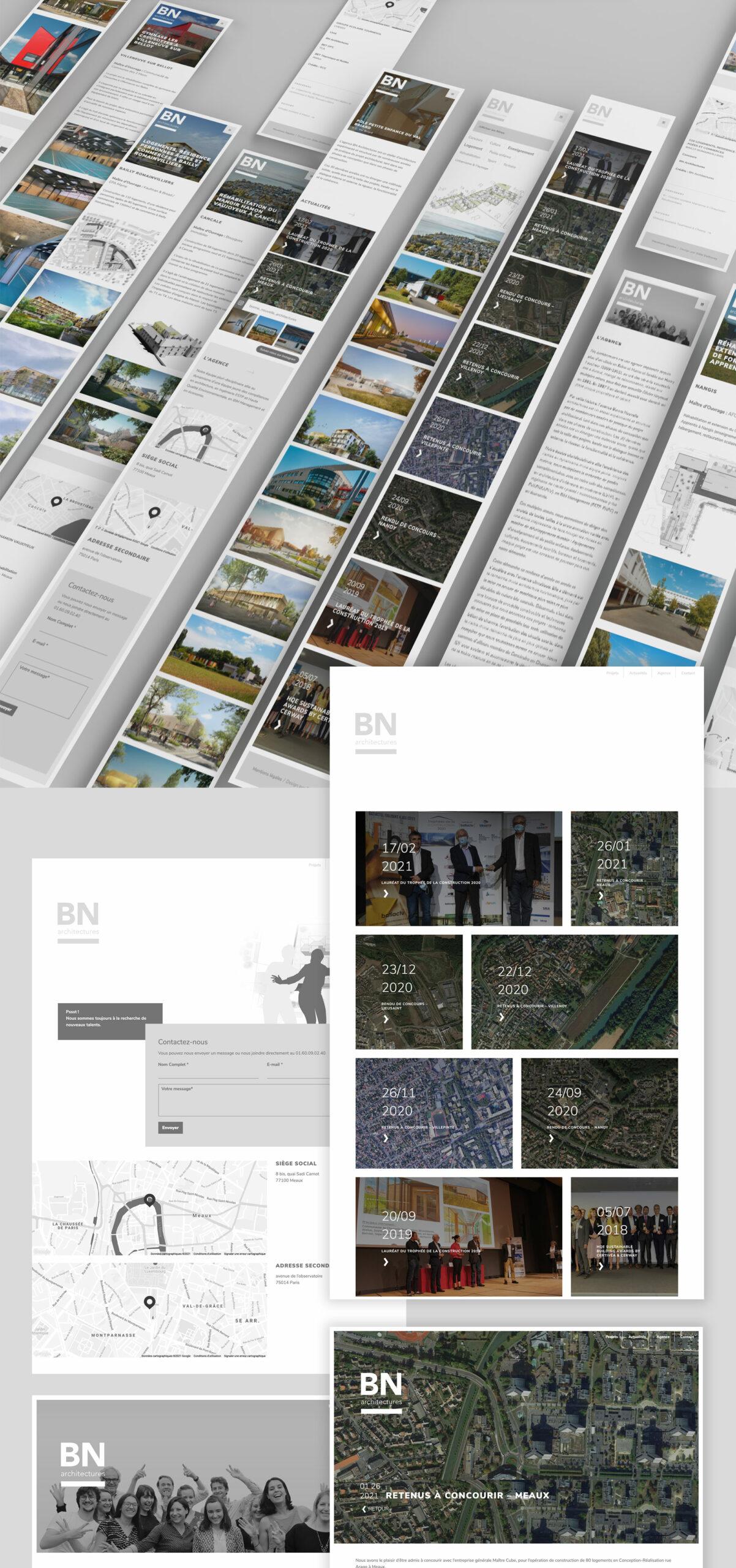 Version responsive de l'intégralité du site (tablettes comme mobiles)
