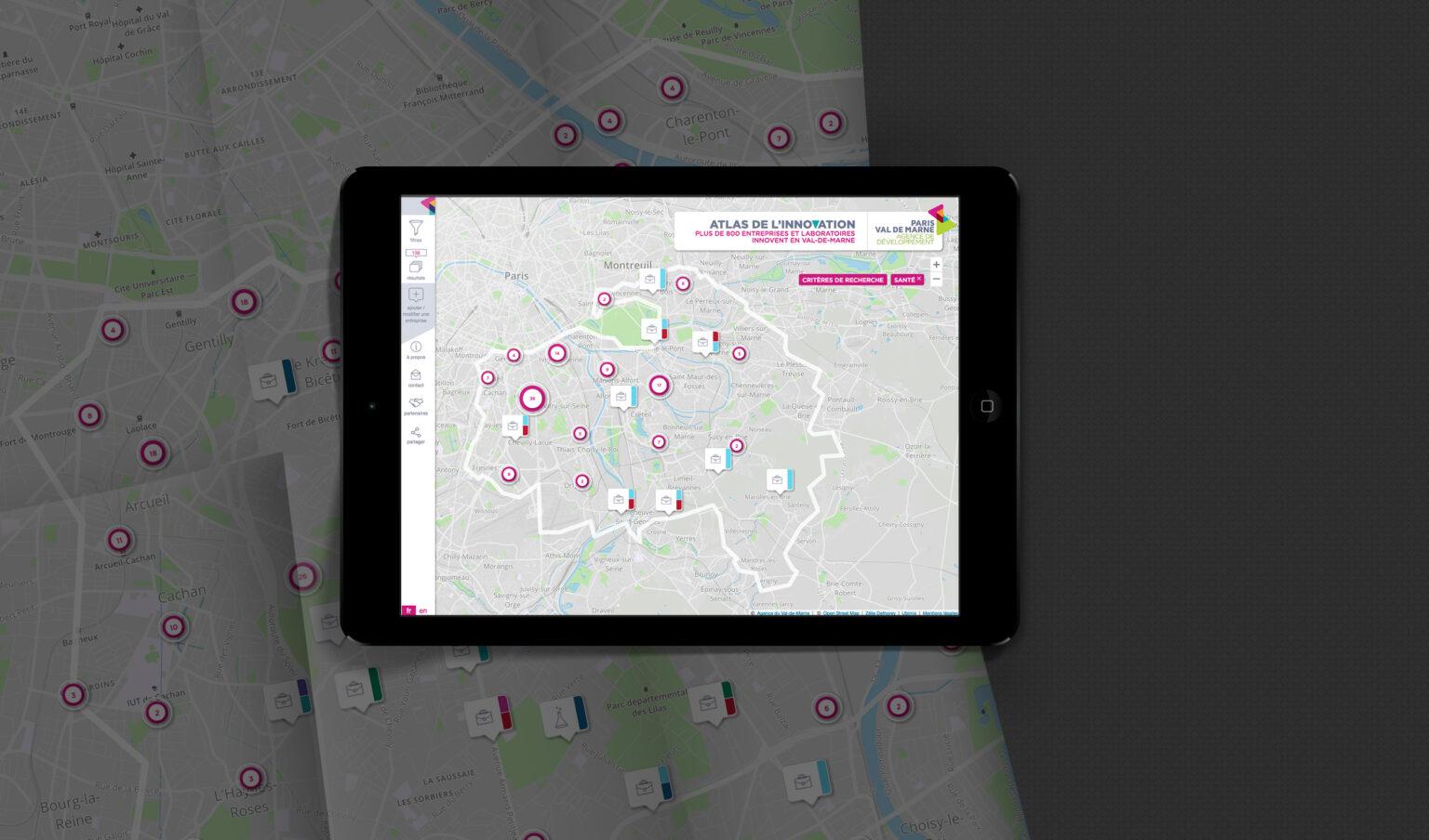 Atlas startups innovantes Val de Marne