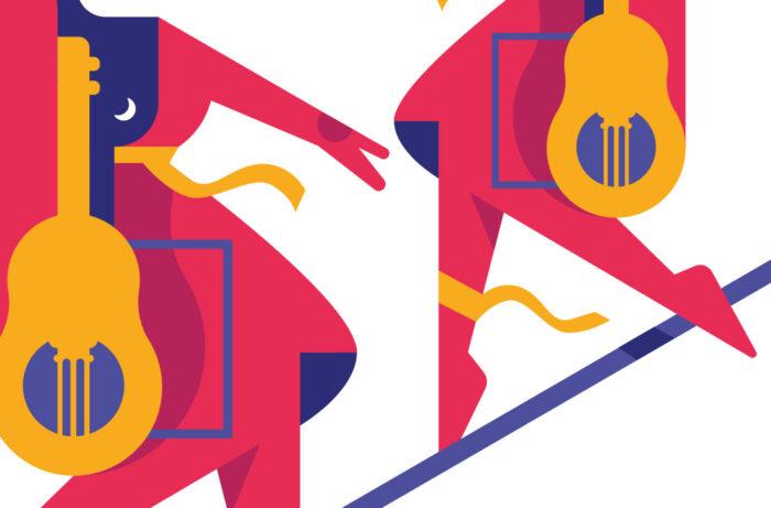 Flyer, affiches et illustrations pour la saison culturelle de Frontignan