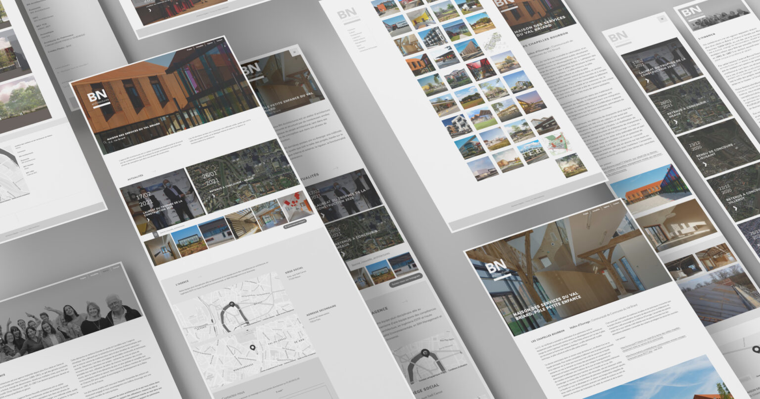 Bn architectures pages web mockups
